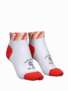 ST perfomance sport ponožky biele/oranžové