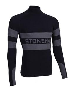 ST spodné tričko unisex čierno/sivé