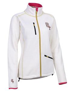 ST patched fleece bunda dámska biela