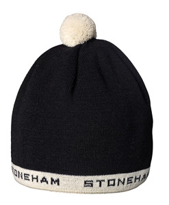 ST pletená čiapka unisex čierna/biela