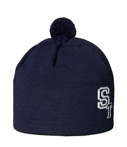 ST pletená čiapka unisex modrá