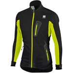 Sportful Apex WindStopper bežecká bunda čierna/žltá