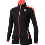 Sportful Squadra GORE WindStopper bunda dámska čierna/fluo koralová