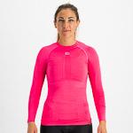 Sportful 2nd SKIN dámske tričko s dlhým rukávom žuvačkové/malinové/strieborné