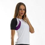 OneWay LARISA Tričko dámske biele/čierne/fialové