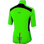 Sportful Fiandre Light NoRain dres KR fluo zelený/čierny