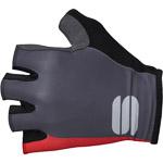 Sportful Bodyfit Pro rukavice tmavosivé/červené