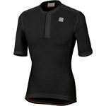 Sportful Giara Dres s krátkym zipsom čierny