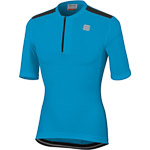 Sportful Giara dres s krátkym zipsom modrý