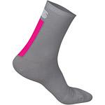 Sportful Wool 18 dámske ponožky tmavosivé/ružové