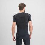 Sportful Pro tričko bez rukávov čierne/antracit/oranžové SDR