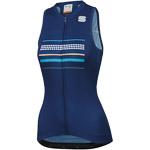 Sportful Diva dámsky dres bez rukávov modrý
