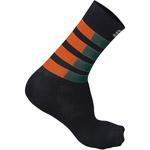 Sportful Mate ponožky tmavozelené/oranžové/čierne
