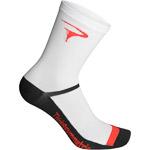 Pinarello ponožky LOGO Think Asymmetric biele/červené