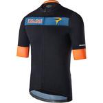 Pinarello FUSION dres T-writing čierny/modrý/žltý