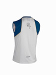 ST running tričko bez rukávov biele/modré